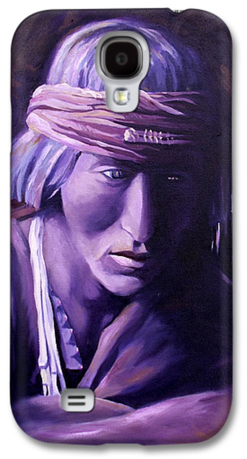 Native American Galaxy S4 Case featuring the painting Medicine Man by Nancy Griswold