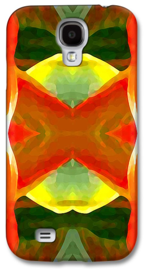 Abstract Galaxy S4 Case featuring the painting Meditation by Amy Vangsgard