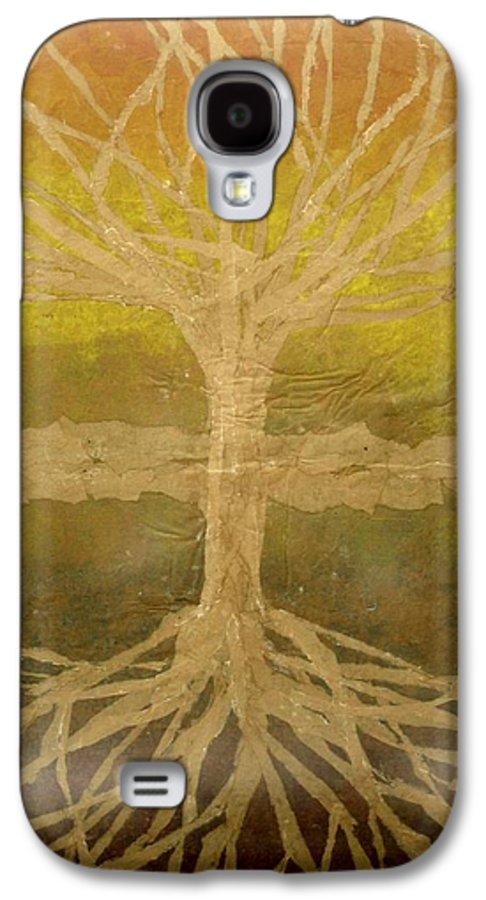 Abstract Galaxy S4 Case featuring the painting Meditation by Leah Tomaino