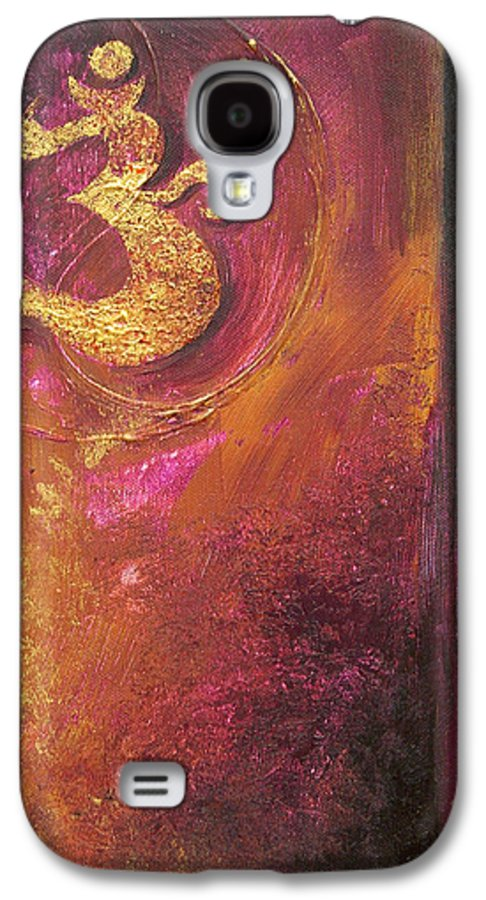 Ohm Om Mantra Yoga Spiritual Buddhist Meditationabstract Galaxy S4 Case featuring the painting Meditations by Dina Dargo