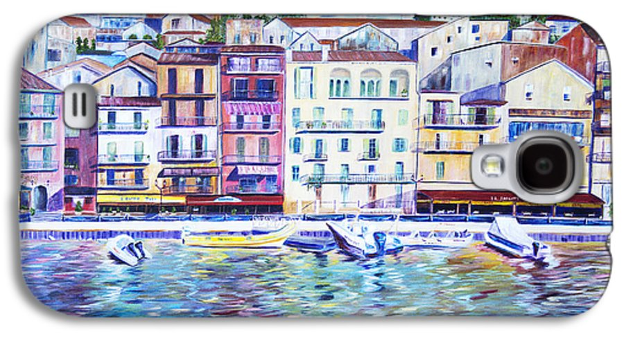 France Galaxy S4 Case featuring the painting Mediterranean Morning by JoAnn DePolo