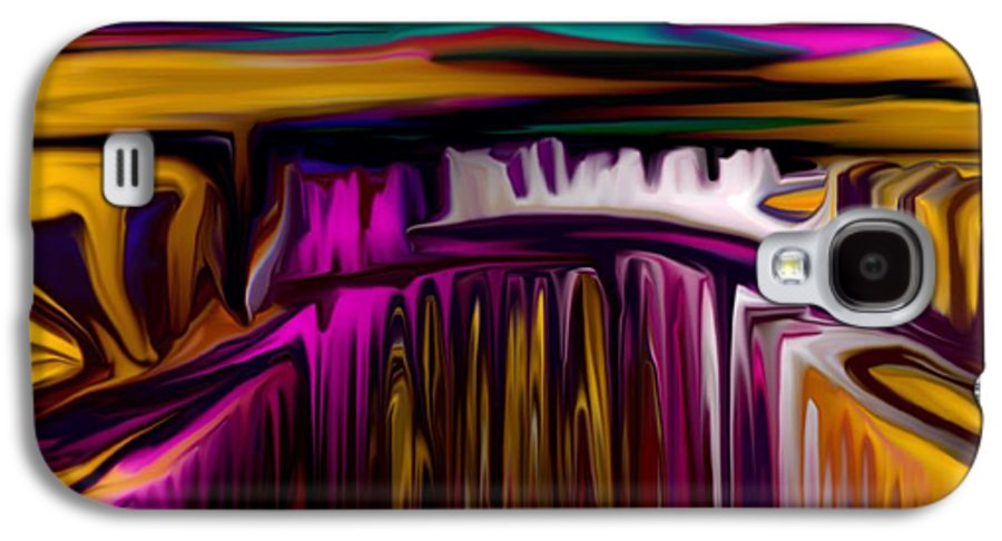 Abstract Galaxy S4 Case featuring the digital art Melting by David Lane