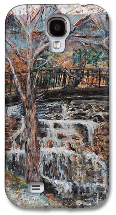 Waterfalls Galaxy S4 Case featuring the painting Memories by Nadine Rippelmeyer