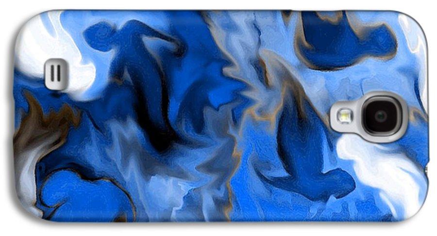 Mermaids Galaxy S4 Case featuring the digital art Mermaids by Shelley Jones