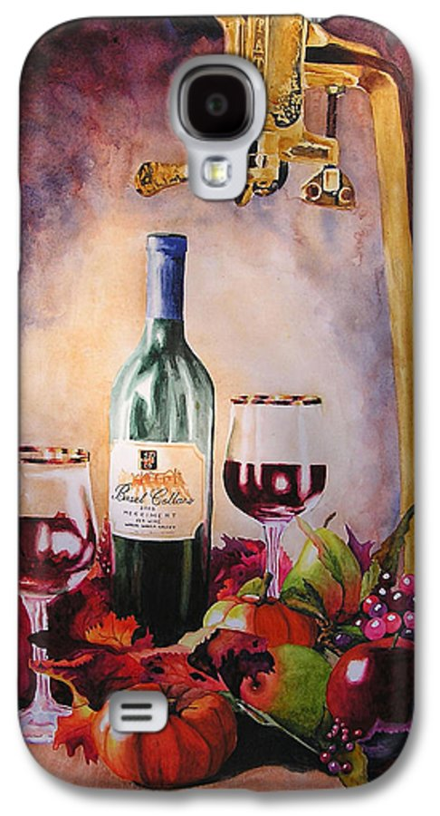 Wine Galaxy S4 Case featuring the painting Merriment by Karen Stark