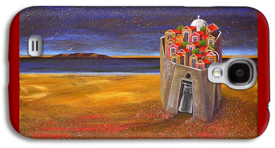 Superrealism Galaxy S4 Case featuring the painting Mesi Castle Village by Dimitris Milionis