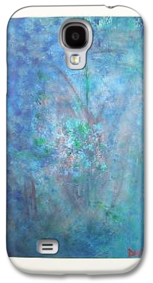 Metal Galaxy S4 Case featuring the painting Metal And Water Abstract. by Lizzy Forrester