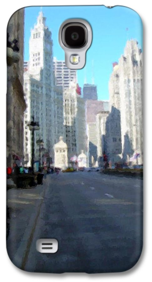 Chicago Galaxy S4 Case featuring the digital art Michigan Ave Tall by Anita Burgermeister