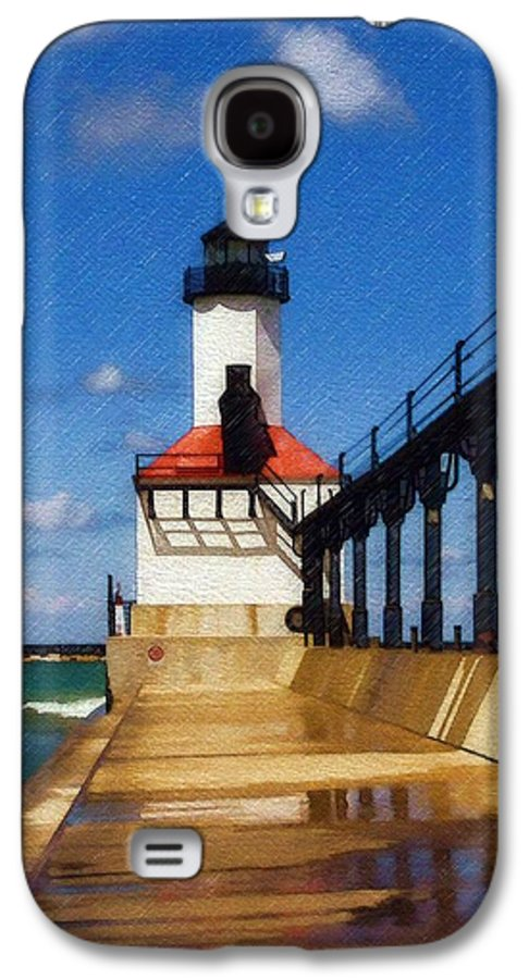 Lighthouse Galaxy S4 Case featuring the photograph Michigan City Light 1 by Sandy MacGowan