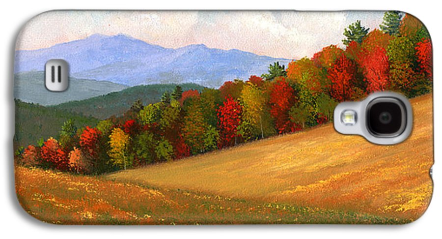 Landscape Galaxy S4 Case featuring the painting Mid Autumn by Frank Wilson