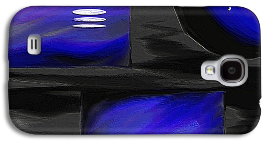 Abstract Art Galaxy S4 Case featuring the painting Midnight by Ely Arsha