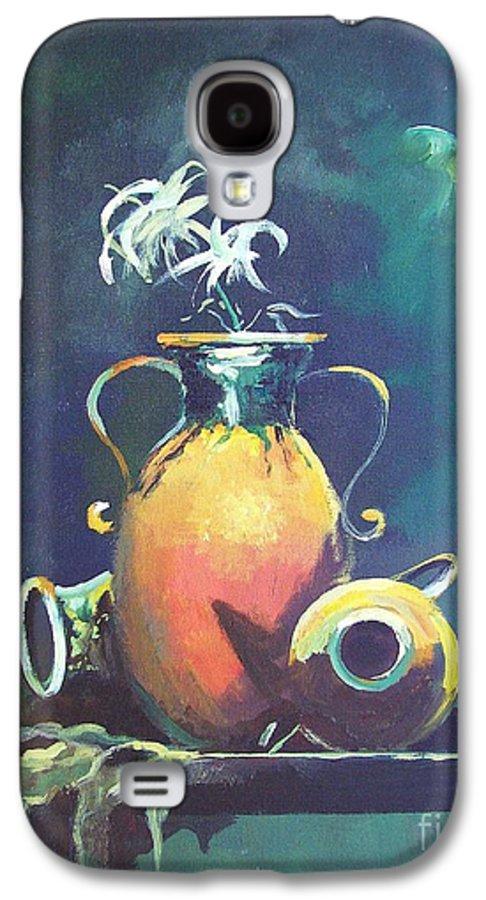 Still Life Galaxy S4 Case featuring the painting Midnight Moon by Sinisa Saratlic