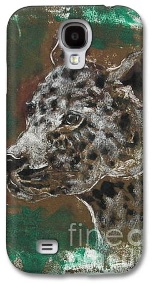 Monotype Galaxy S4 Case featuring the mixed media Midnight Prowler by Cori Solomon