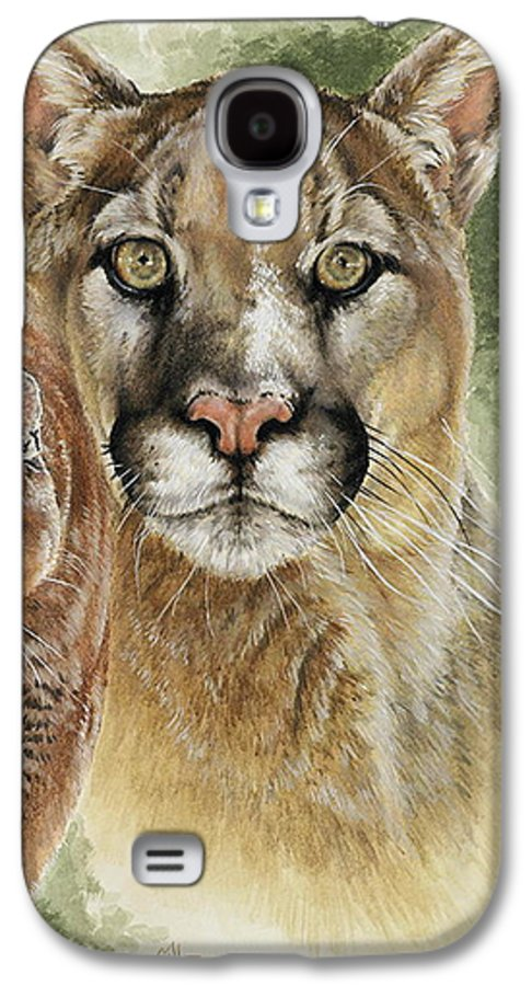 Cougar Galaxy S4 Case featuring the mixed media Mighty by Barbara Keith