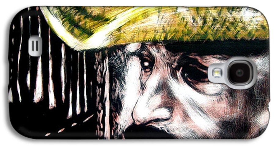 Galaxy S4 Case featuring the mixed media Miguel by Chester Elmore
