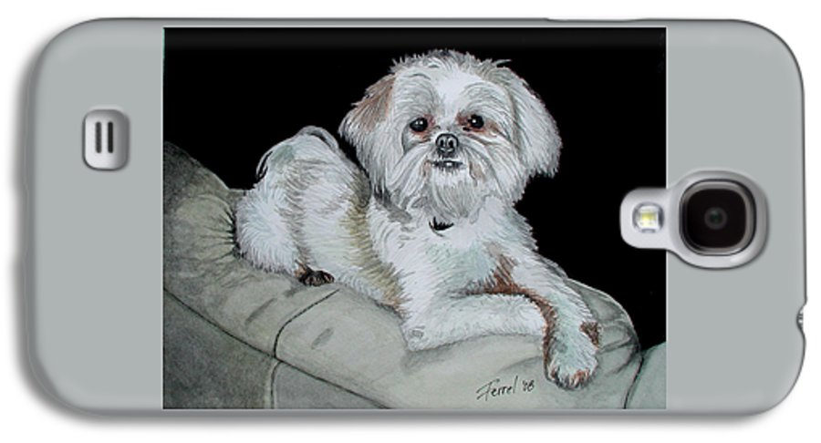 Dog Galaxy S4 Case featuring the painting Miki Dog by Ferrel Cordle