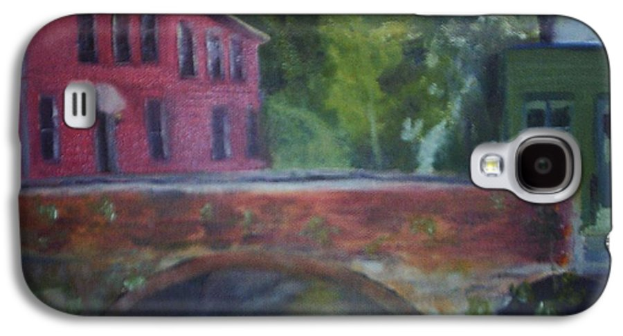 Mill Street Galaxy S4 Case featuring the painting Mill Street Plein Aire by Sheila Mashaw