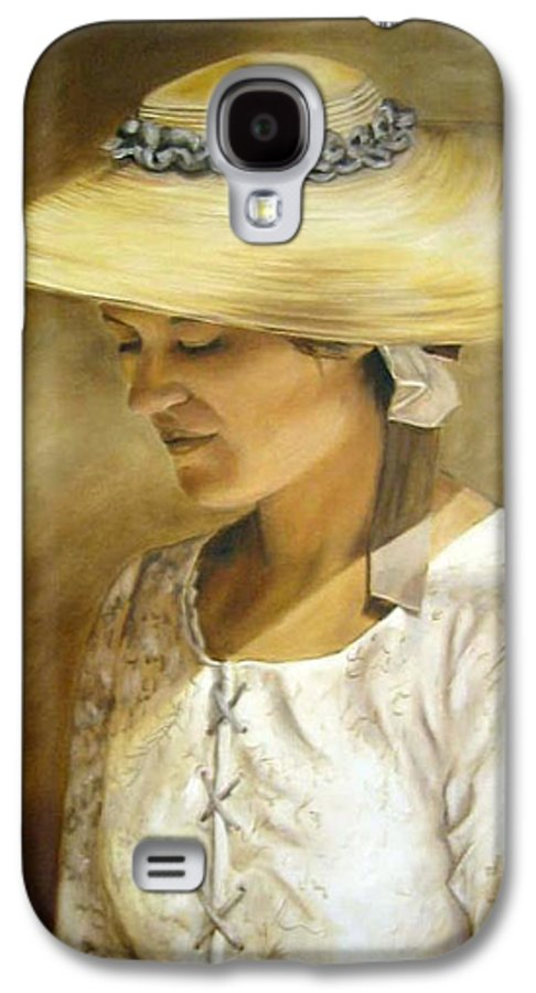 Portrait Galaxy S4 Case featuring the painting Milliners Daughter by Anne Kushnick