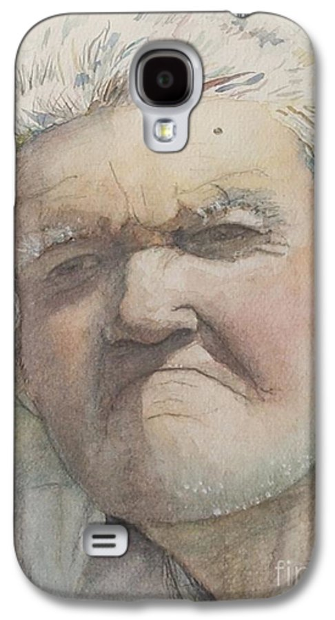 Portrait Galaxy S4 Case featuring the painting Minnesota Farmer by Nadine Rippelmeyer