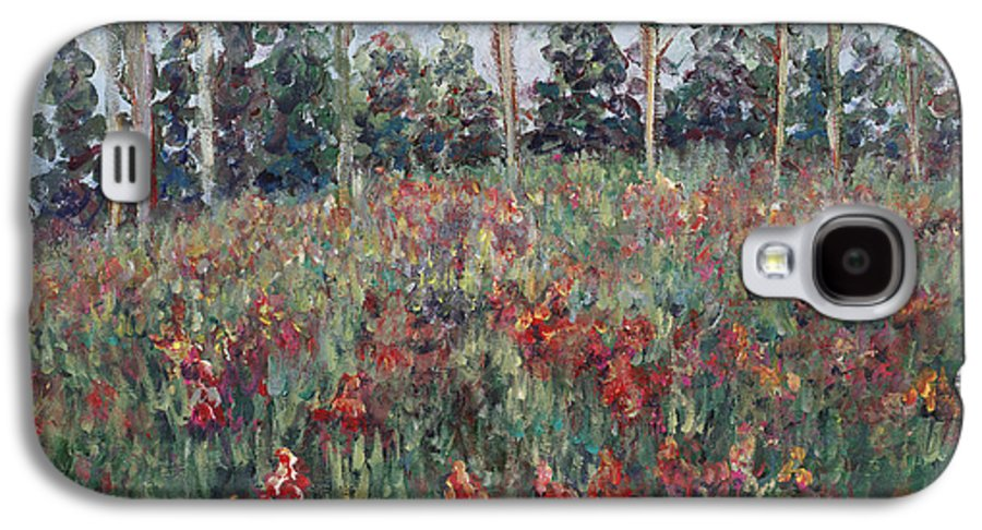 Landscape Galaxy S4 Case featuring the painting Minnesota Wildflowers by Nadine Rippelmeyer