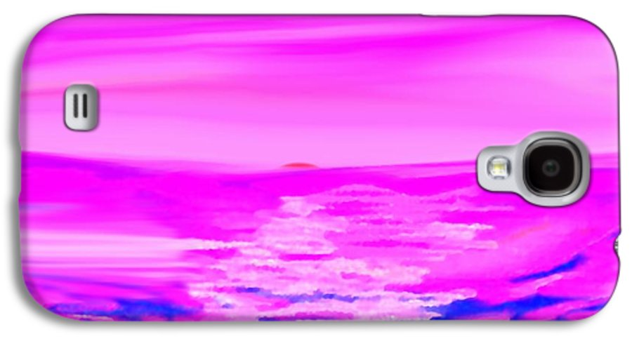 Sunset Galaxy S4 Case featuring the digital art Miracle Sunset-sun And Sky In One Dance by Dr Loifer Vladimir