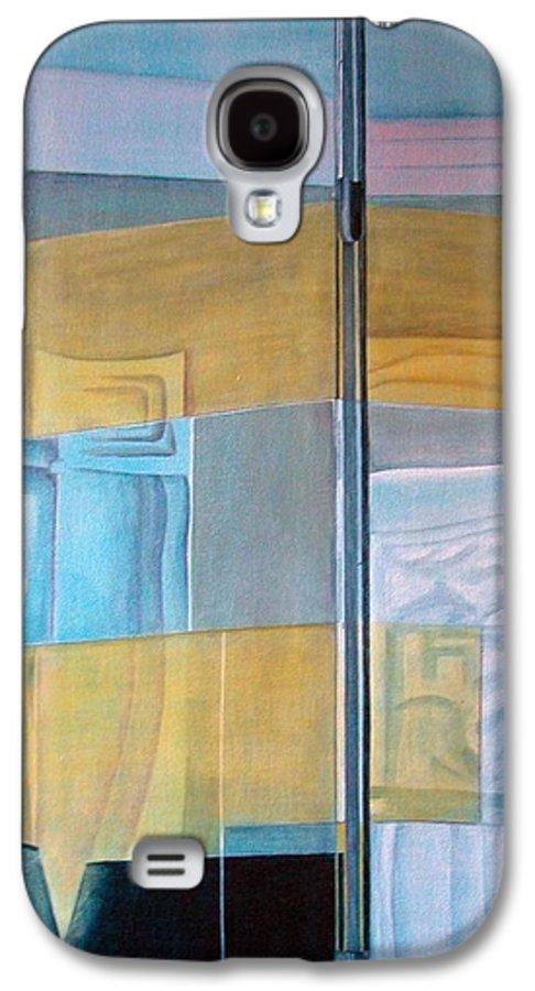 Miroir Galaxy S4 Case featuring the painting Miroir by Muriel Dolemieux