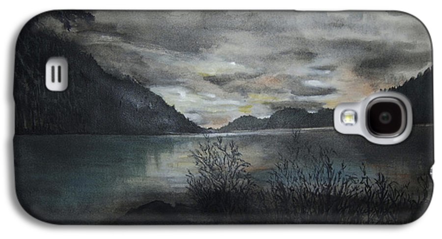 Sunset Galaxy S4 Case featuring the painting Missezula Lake Sunset by Susan Moore