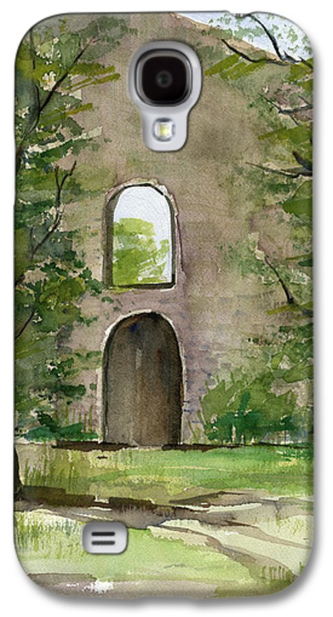 Mission Galaxy S4 Case featuring the painting Mission Wall by Arline Wagner