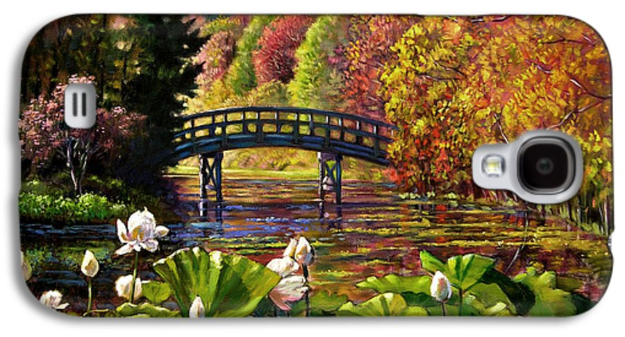 Landscape Galaxy S4 Case featuring the painting Missouri Memories by John Lautermilch