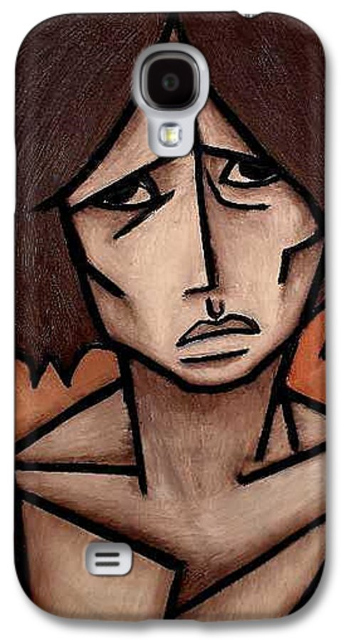 Potrait Galaxy S4 Case featuring the painting Missy by Thomas Valentine