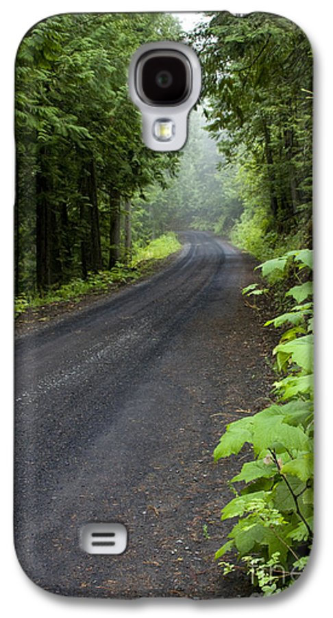 Road Galaxy S4 Case featuring the photograph Misty Mountain Road by Idaho Scenic Images Linda Lantzy