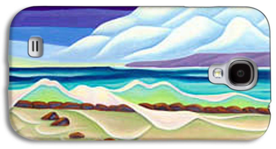 Landscape Galaxy S4 Case featuring the painting Moana Kai Surf by Lynn Soehner