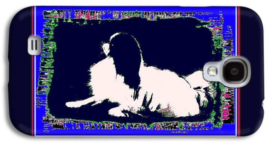 Mod Dog Galaxy S4 Case featuring the digital art Mod Dog by Kathleen Sepulveda