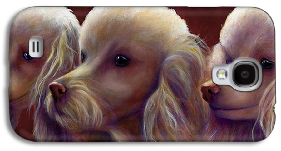 Dogs Galaxy S4 Case featuring the painting Molly Charlie And Abby by Shannon Grissom