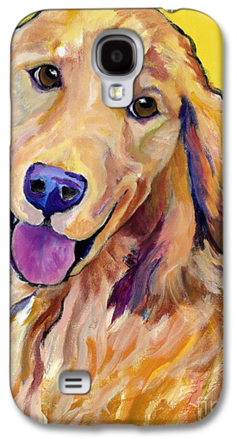Acrylic Paintings Galaxy S4 Case featuring the painting Molly by Pat Saunders-White