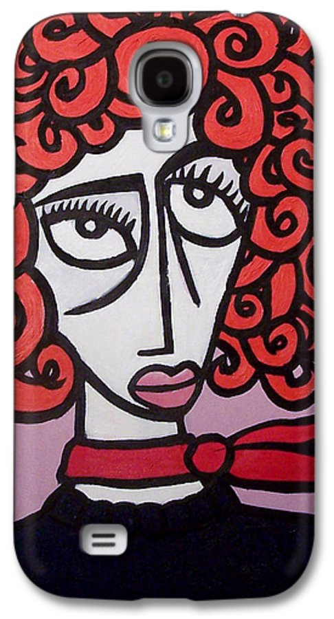 Portaits Galaxy S4 Case featuring the painting Molly by Thomas Valentine