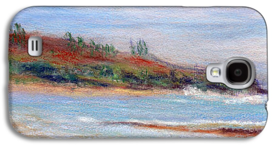 Coastal Decor Galaxy S4 Case featuring the painting Moloa'a Beach by Kenneth Grzesik