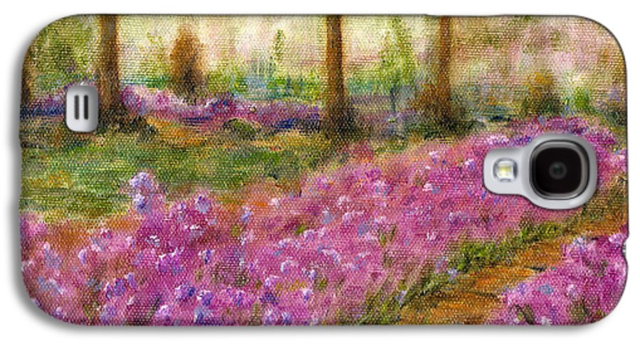 Monet Galaxy S4 Case featuring the painting Monet's Garden In Cannes by Jerome Stumphauzer