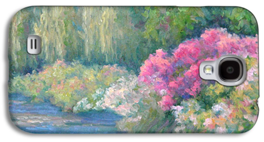 Pond Galaxy S4 Case featuring the painting Monet's Pond by Bunny Oliver