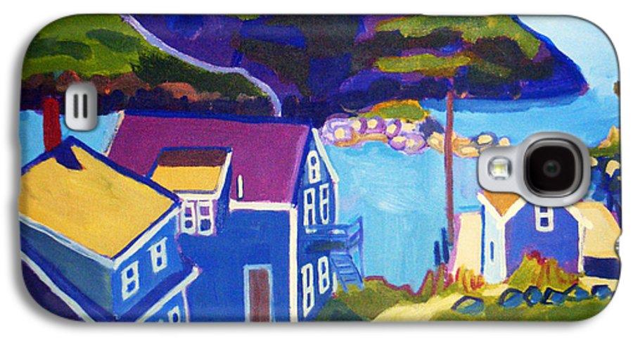 Seascape Galaxy S4 Case featuring the painting Monhegan Harbor by Debra Bretton Robinson