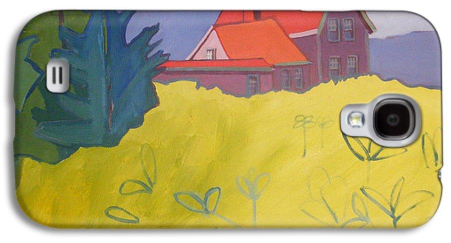 Lighthouse Galaxy S4 Case featuring the painting Monhegan Light by Debra Bretton Robinson