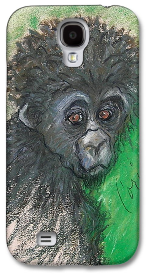 Monkey Galaxy S4 Case featuring the drawing Monkey Business by Cori Solomon