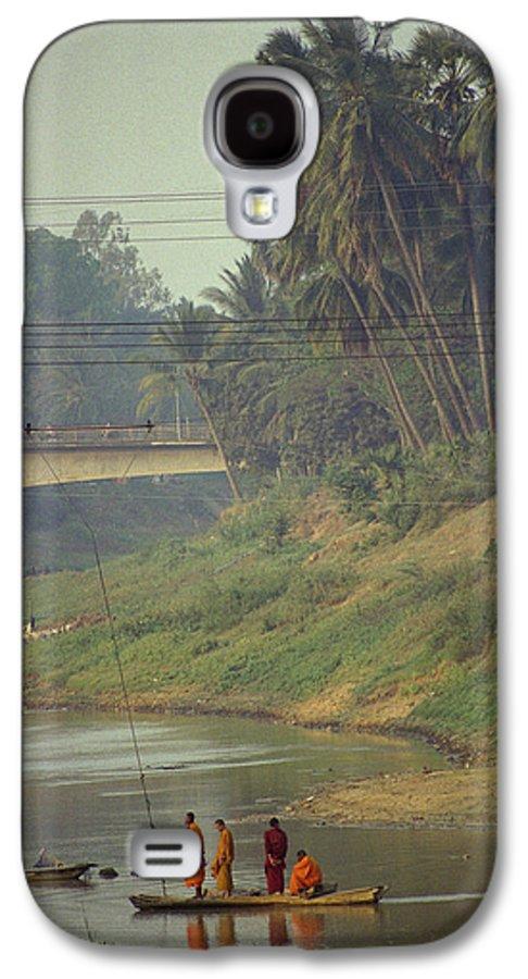 Monks Galaxy S4 Case featuring the photograph Monks - Battambang by Patrick Klauss