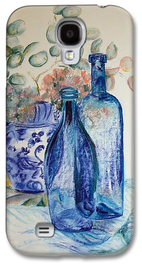 Still Life Galaxy S4 Case featuring the drawing Monnaie Bleue by Muriel Dolemieux