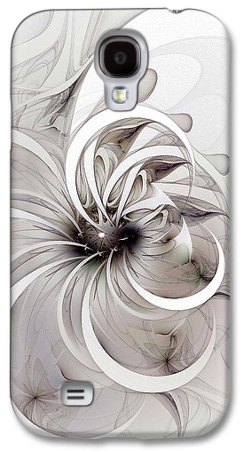 Digital Art Galaxy S4 Case featuring the digital art Monochrome Flower by Amanda Moore