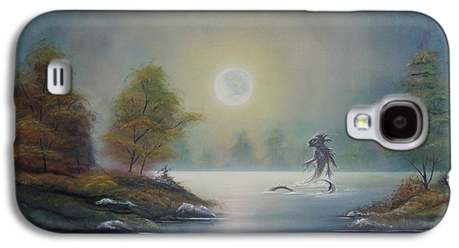 Landscape Galaxy S4 Case featuring the painting Monstruo Ness by Angel Ortiz