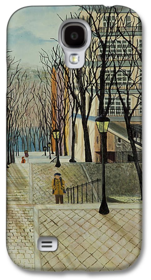 Paris Galaxy S4 Case featuring the painting Montmartre Steps In Paris by Susan Kubes