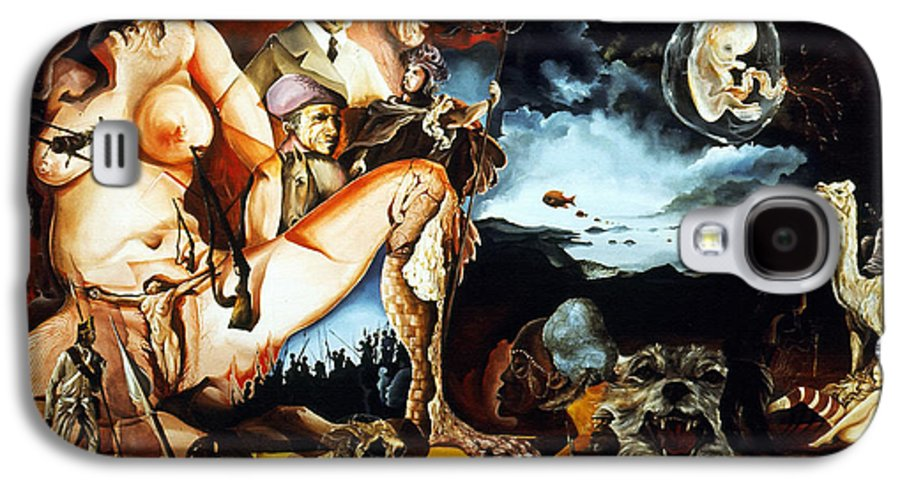 War Galaxy S4 Case featuring the painting Monument To The Unborn War Hero by Otto Rapp