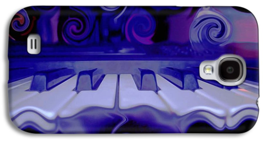 Music Galaxy S4 Case featuring the photograph Moody Blues by Linda Sannuti