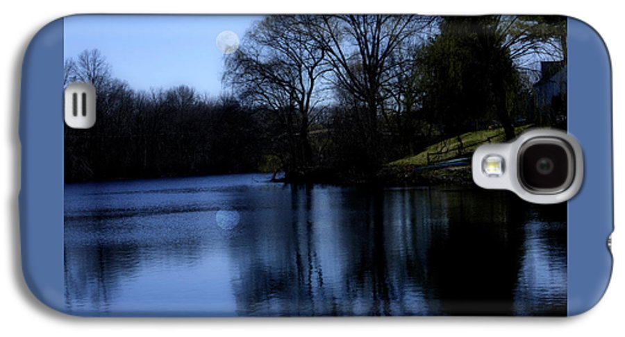 Moon Galaxy S4 Case featuring the digital art Moon Over The Charles by Edward Cardini